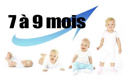 Le développement de l'enfant de 7 à 9 mois